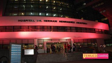 Photo of Hospital de Temuco se viste de rosado para sumarse a campaña contra el cáncer de mama
