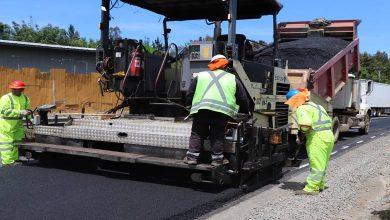 Photo of MOP avanza con trabajos de asfalto en ruta que une Temuco con Cajón