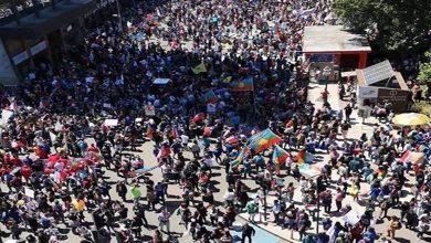 Photo of Miles de personas marcharon  por las calles de  Temuco