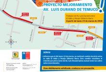 Photo of Desvío de cambio de pista en obras de Avenida Luis Durand