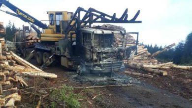 Photo of La Araucanía: Desconocidos queman camiones y maquinaria