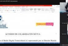 Photo of Carrera de Periodismo De la Universidad de La Frontera  y TemucoDiario firman convenio para el plebiscito 2020.