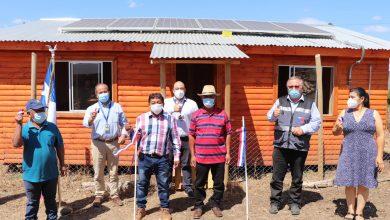 Photo of Seis paneles fotovoltaicos iluminan sede en comunidad de Los Sauces