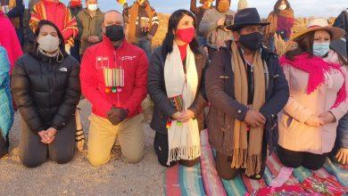 Photo of Ministra Rubilar, Subsecretaria Balladares y Director Nacional  de CONADI celebraron Machaq Mara en Cariquima