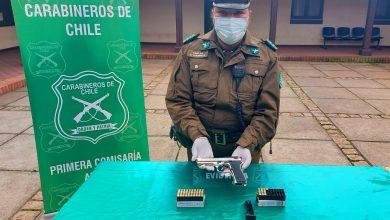 Photo of Carabineros de Angol detienen a sujeto por disparos injustificados en la vía pública